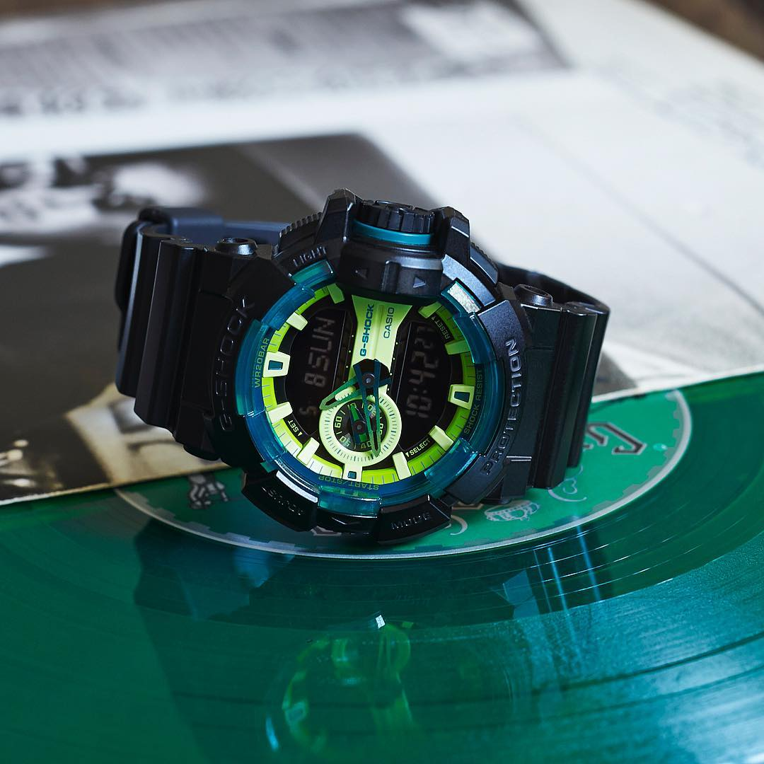 [Live Photos] G-Shock Lime Accent Color Series GA-400LY-1AJF