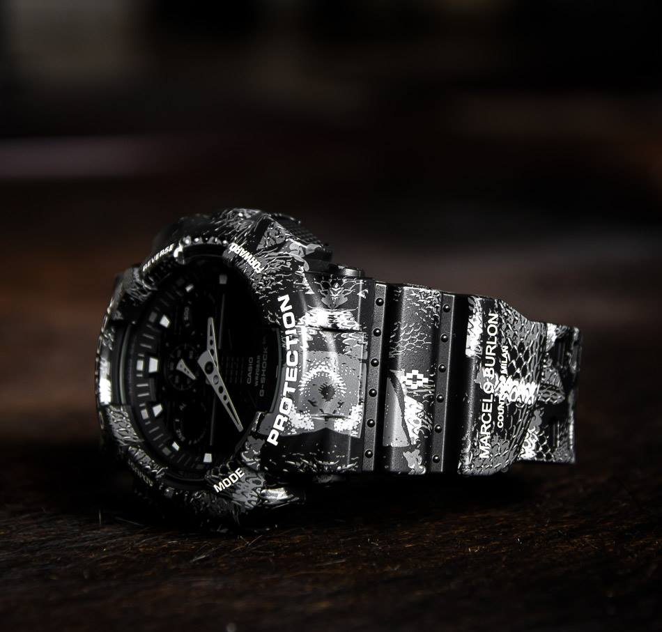 [Limited Series] GA-100MRB-1AER — G-Shock and Marcelo Burlon Collaboration