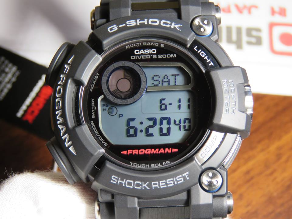 [Live Photos] G-Shock Frogman GWF-D1000-1 with Depth Meter and DLC Coating