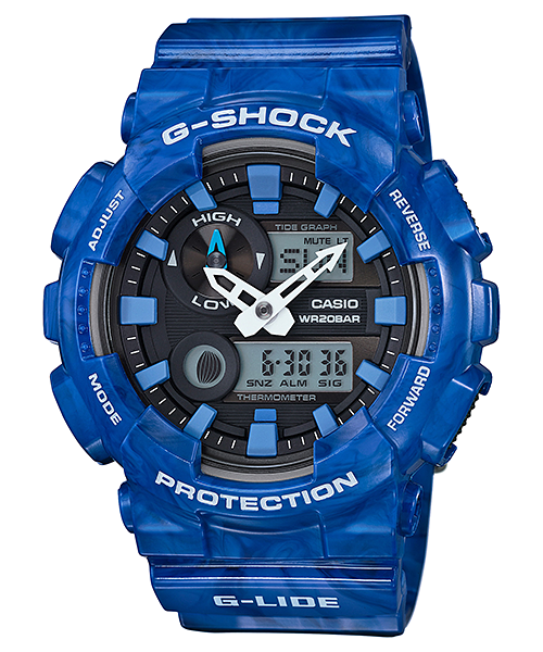 [June 2016] G-Shock white, black, blue, green & red GAX-100