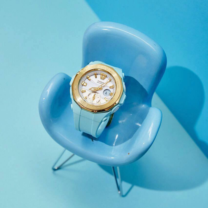 [Live Photos] Baby-G BGA-220G-2A – Exquisite combination of blue and gold