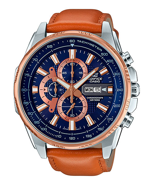 [August 2016] Edifice pink gold, gray & brown EFR-549