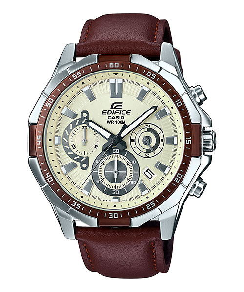 [August 2016] Edifice blue, gray, brown & gold EFR-554