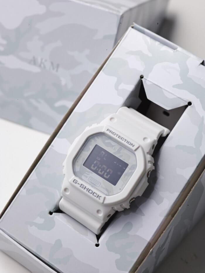 [Live Photos] G-Shock DW-5600E White Camouflage x AKM 10th Anniversay