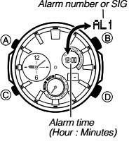 How to set alarm on Edifice ERA-500 Casio 5446-1