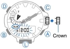 How to set alarm on ProTrek PRW-6100 Casio 5470-2