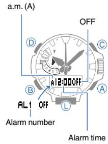 How to set alarm on ProTrek PRX-8000 Casio 5470-1