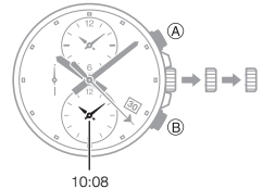 How to set time on Edifice EFR-304 Casio 5468-2