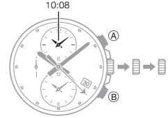 How to set time on Edifice EFR-304 Casio 5468-4