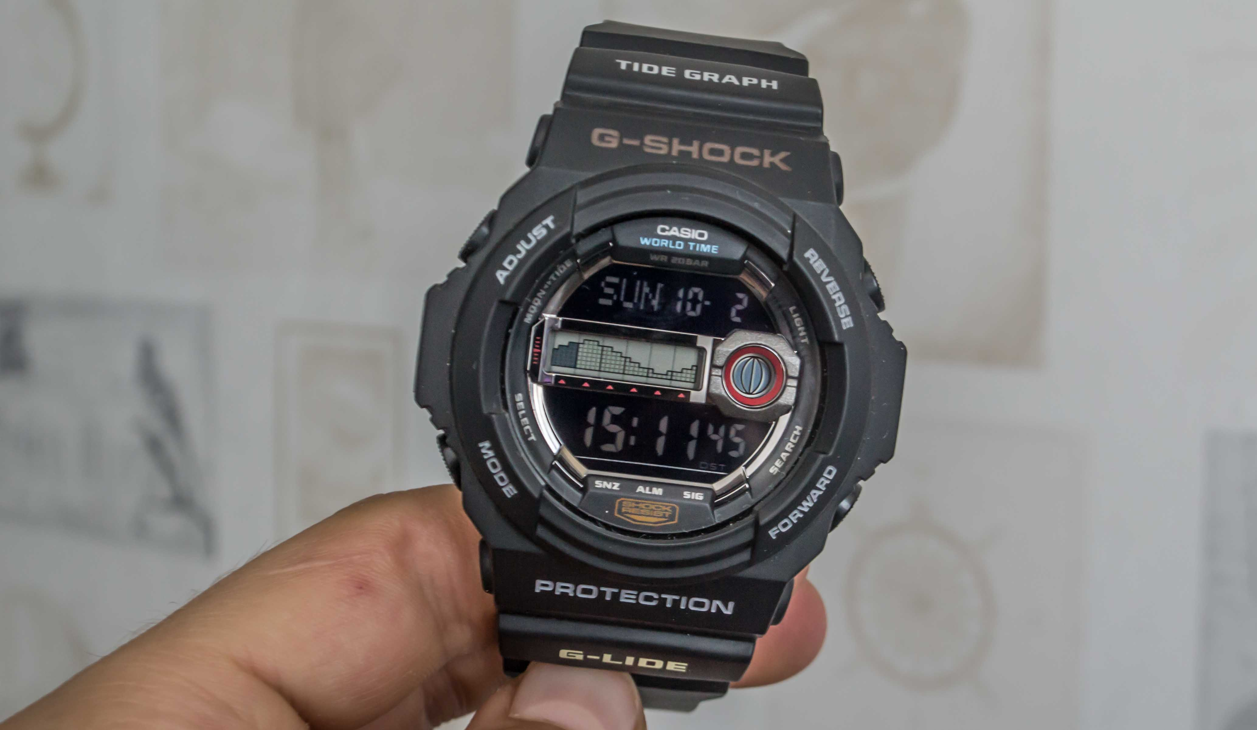 [Live Photos] G-Shock GLX-150-1 – Tide Graph and Moon Phases