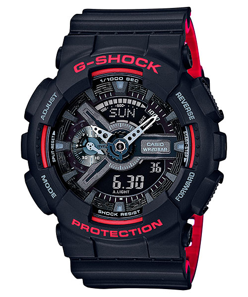 [October 2016] G-Shock GA-110HR-1A from Black & Red Series