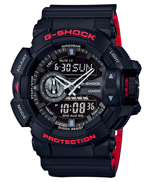 [October 2016] G-Shock GA-400HR-1A from Black & Red Series