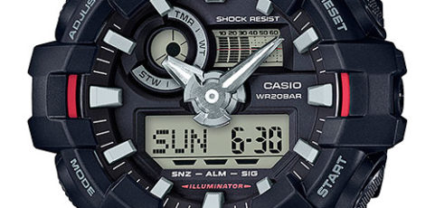 How to set alarm on G-Shock GA-700 / Casio 5522