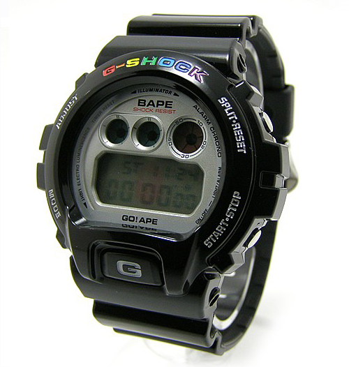 "[Limited Series] DW-6900 — G-Shock and Bathing Ape ""Black Rainbow"" Collaboration"