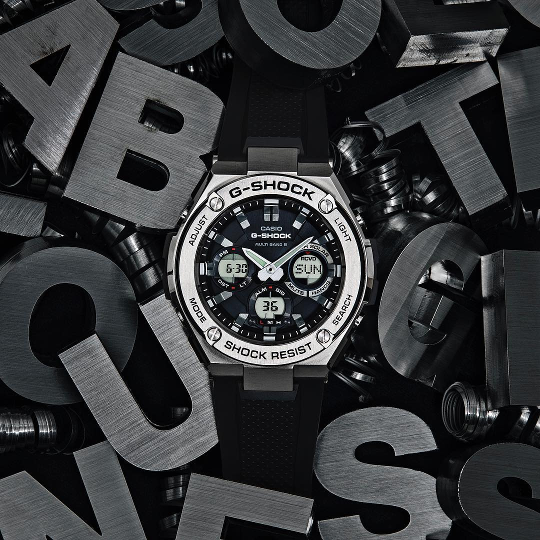 [Live Photos] G-Shock G-STEEL GST-W110-1AJF with layer guard structure