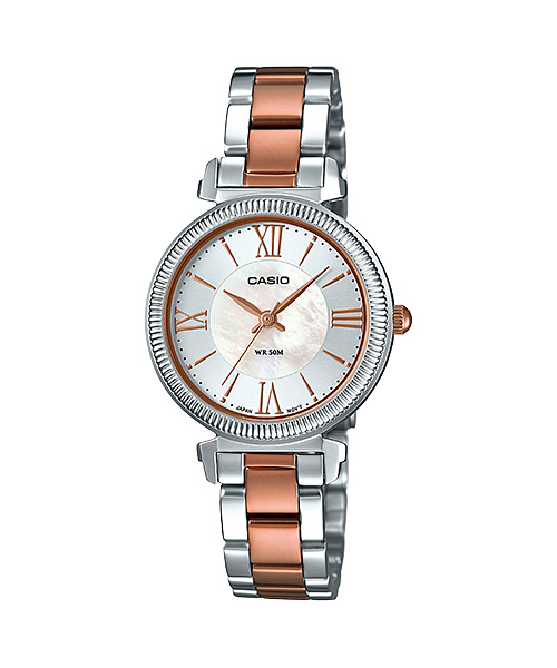 [December 2016] Casio white, brown and rose gold LTP-E409