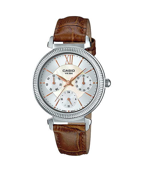 [December 2016] Casio white, brown and rose gold LTP-E410