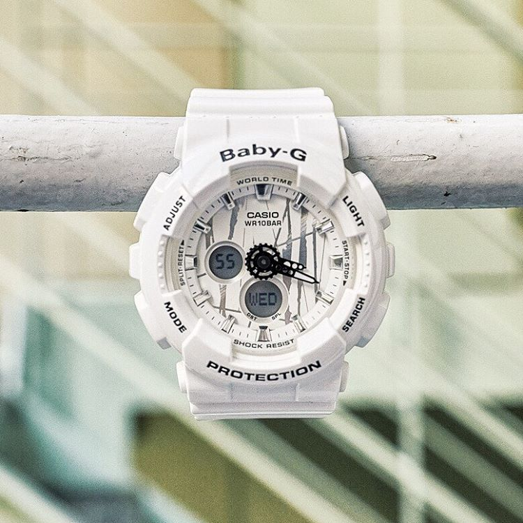 [Live Photos] Baby-G BA-120SP-7A — suits well for the street style