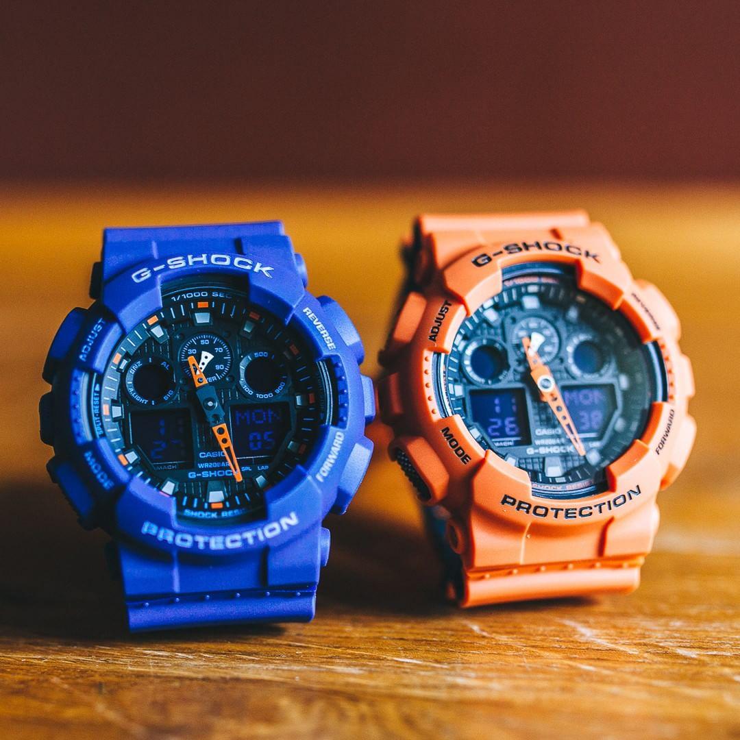 [Live Photos] G-Shock GA-100L-2A and GA-100L-4A Bicolor Series