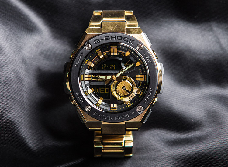 [Live Photos] G-Shock GST-210GD-1A — Gold G-Steel
