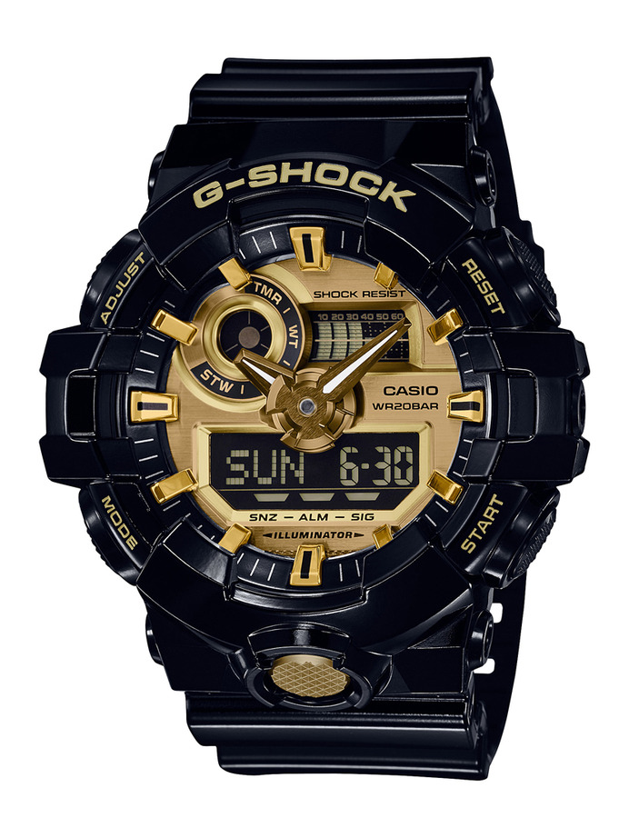 How to set alarm on G-Shock GA-710 / Casio 5522