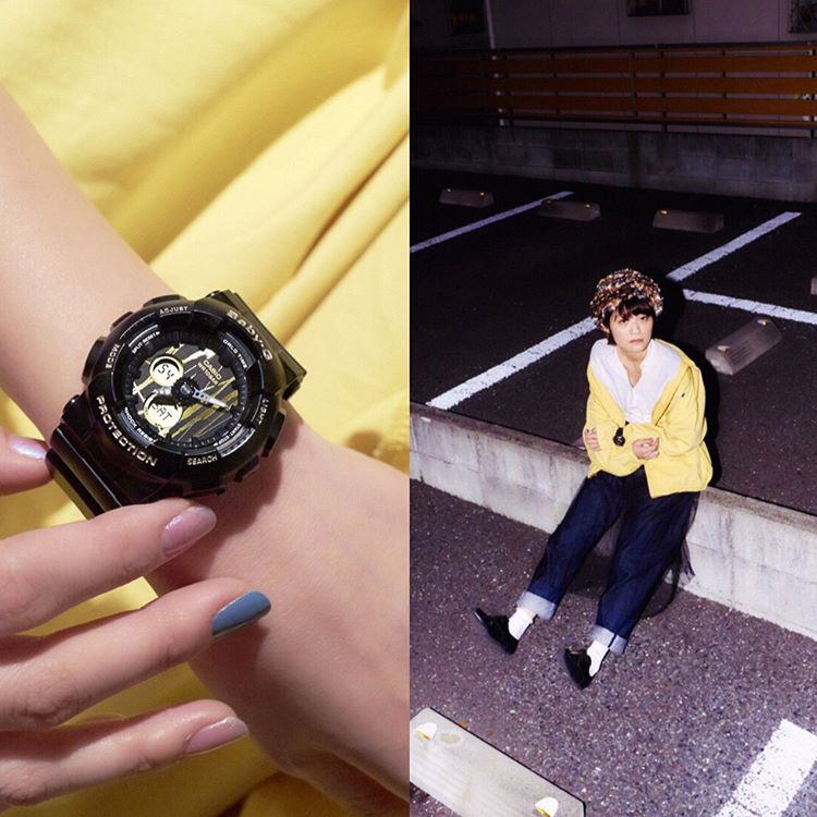[Live Photos] Baby-G BA-120SP-1A — Making it street style by wearing black