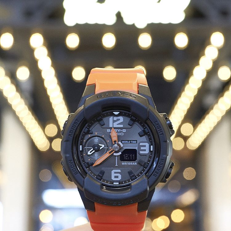 [Live Photos] Baby-G BGA-230-4B — mannish design & military color