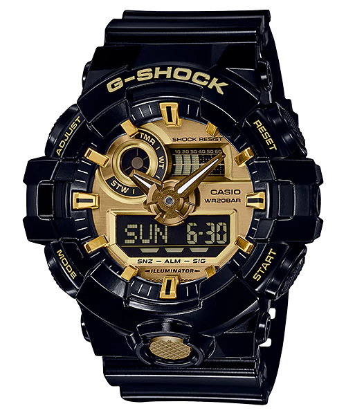 How to set time on G-Shock GA-710 / Casio 5522