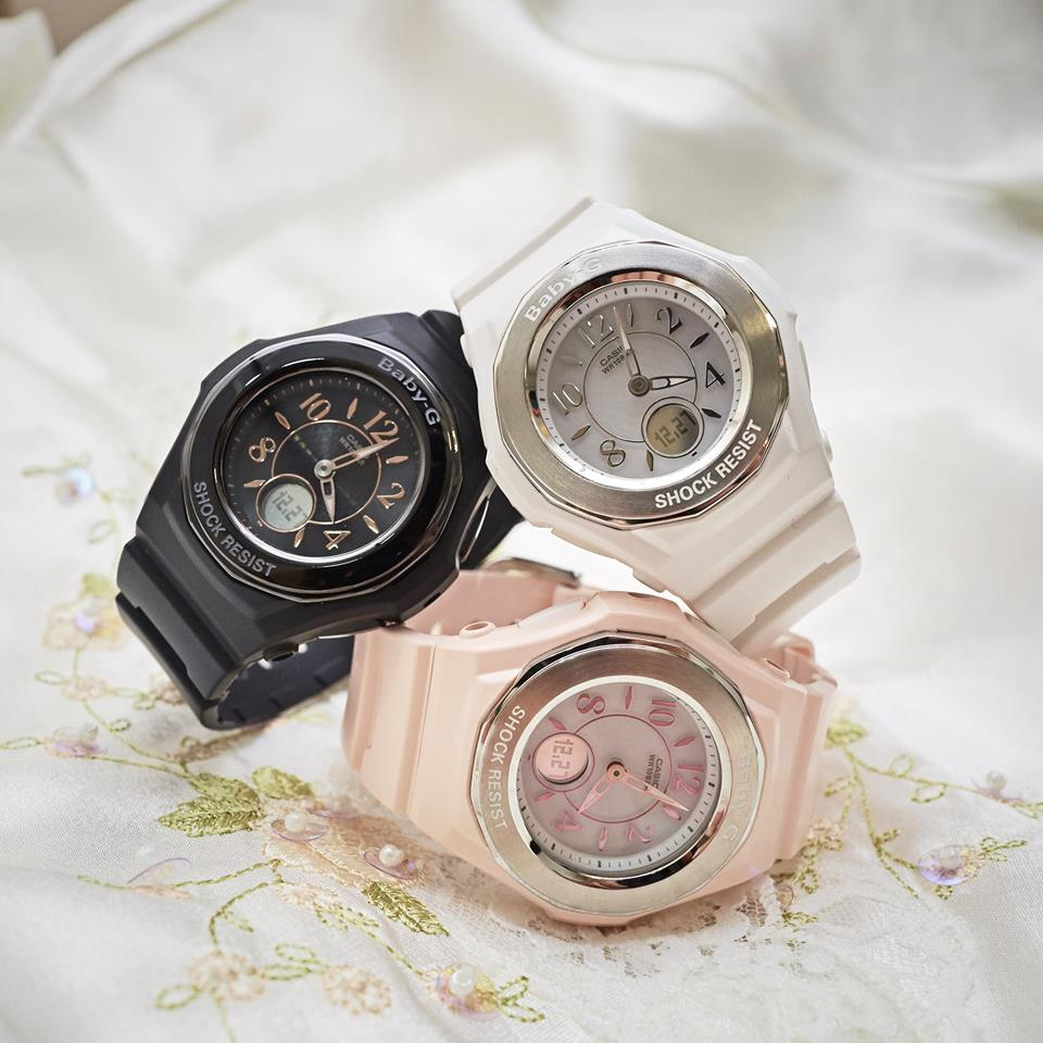 [Live Photos] Baby-G BGA-1050 — Metallic and spring colors make it cool and cute