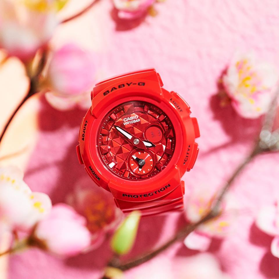 [Live Photos] Baby-G BGA-195M-4A with peach blossoms – the symbol of Girl's day