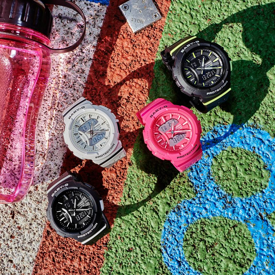 "[Live Photos] Baby-G BGA-240 ""For Running Series"" — uplift your mood"