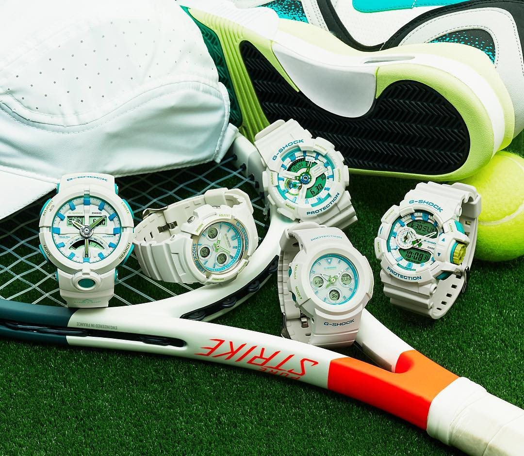 [Live Photos] G-Shock WHITE & LIGHT BLUE Collection 2017