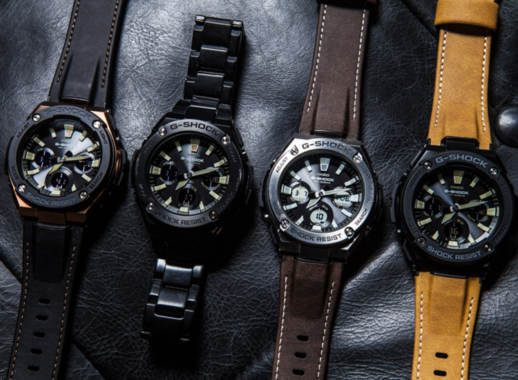 3462c675e G-Shock's new G-Steel Tough Leather takes the unbreakable watch to new  heights of distinction and style. It's perfect to transition from the  office to a ...