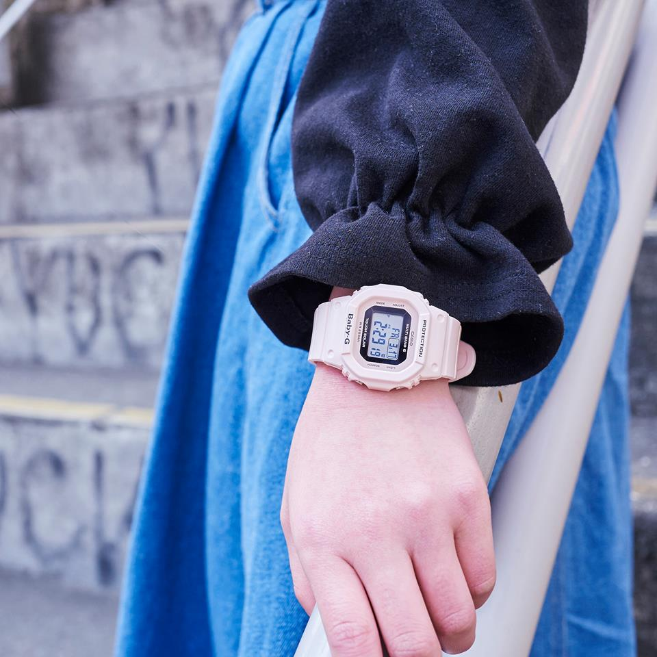 [Live Photos] Baby-G BGD-5000-4B — Pastel pink of the street trend fits perfect with bluish outfits