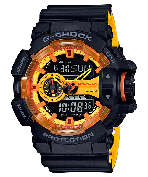 [May 2017] G-Shock GA-400BY-1A Yellow and Black Style