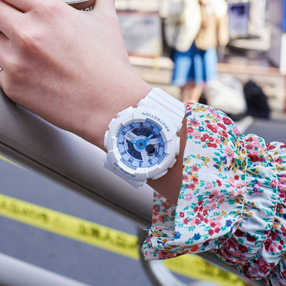 [Live Photos] Baby-G BA-110BE-7A — Let's go to the city with Marine color
