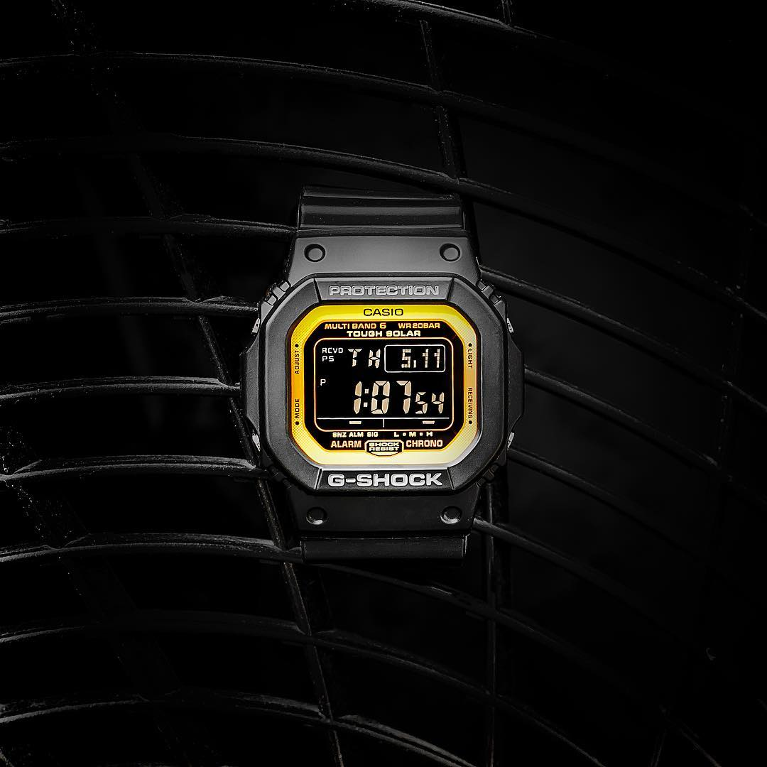 [Live Photos] G-Shock GW-M5610BY-1 Black and Yellow Series