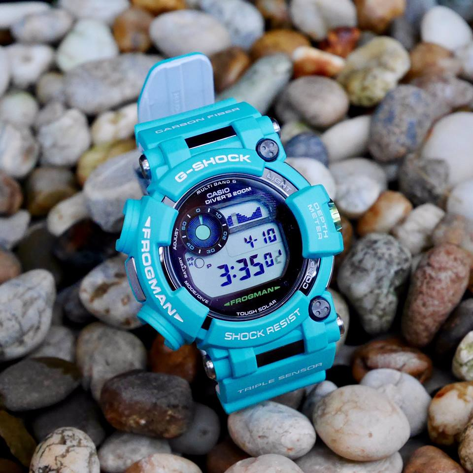 [Live Photos] G-Shock GWF-D1000MB Master in Marine Blue Frogman