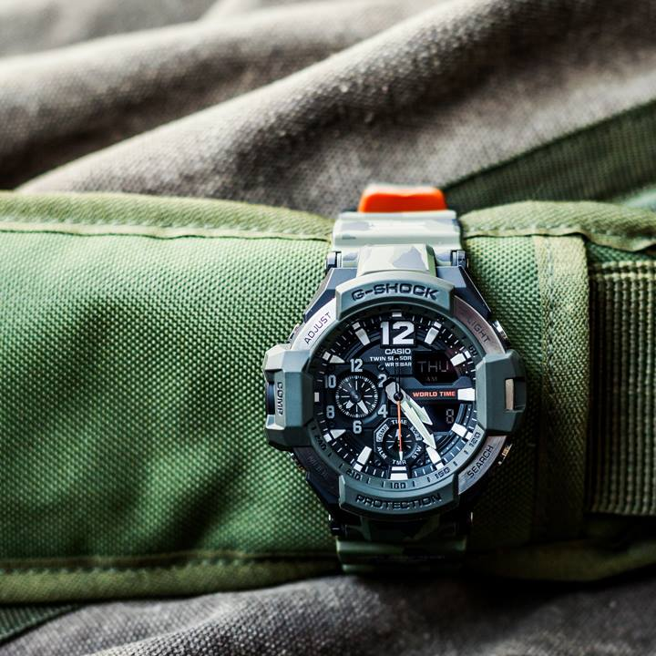 [Live Photos] G-Shock Gravitymaster Master in OLIVE DRAB GPW-2000-3A, GA-1100SC-3A and GW-4000SC-3A