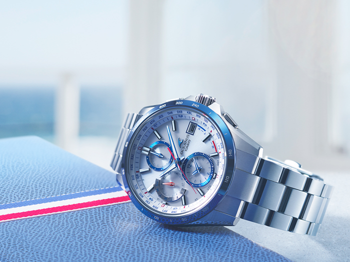 [Live Photos] Oceanus OCW-T2610C-7A from the classic Tricolor color line