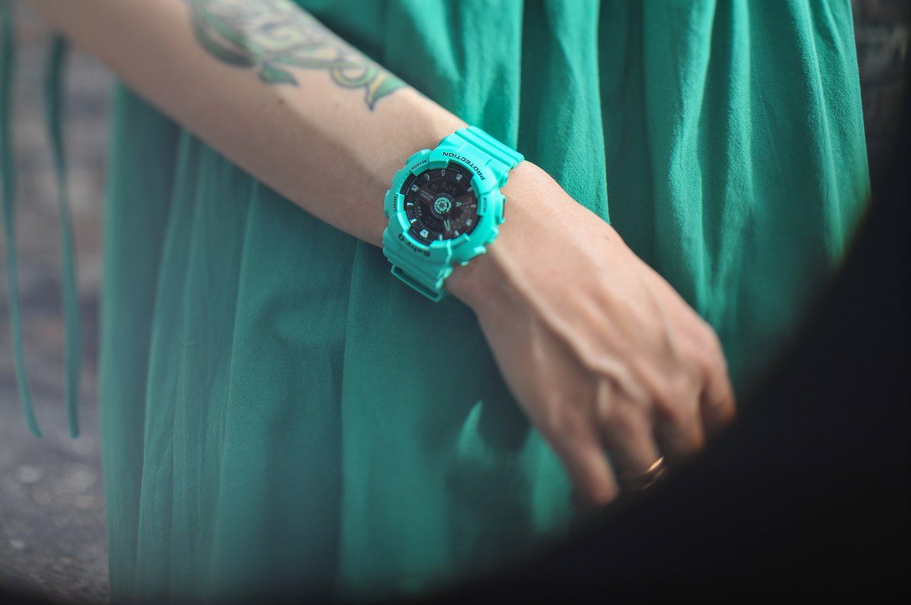 Baby-G BA-111-3A — Mint accents for summer