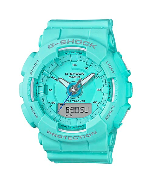 [September 2017] G-Shock black, blue, pink and white GMA-S130