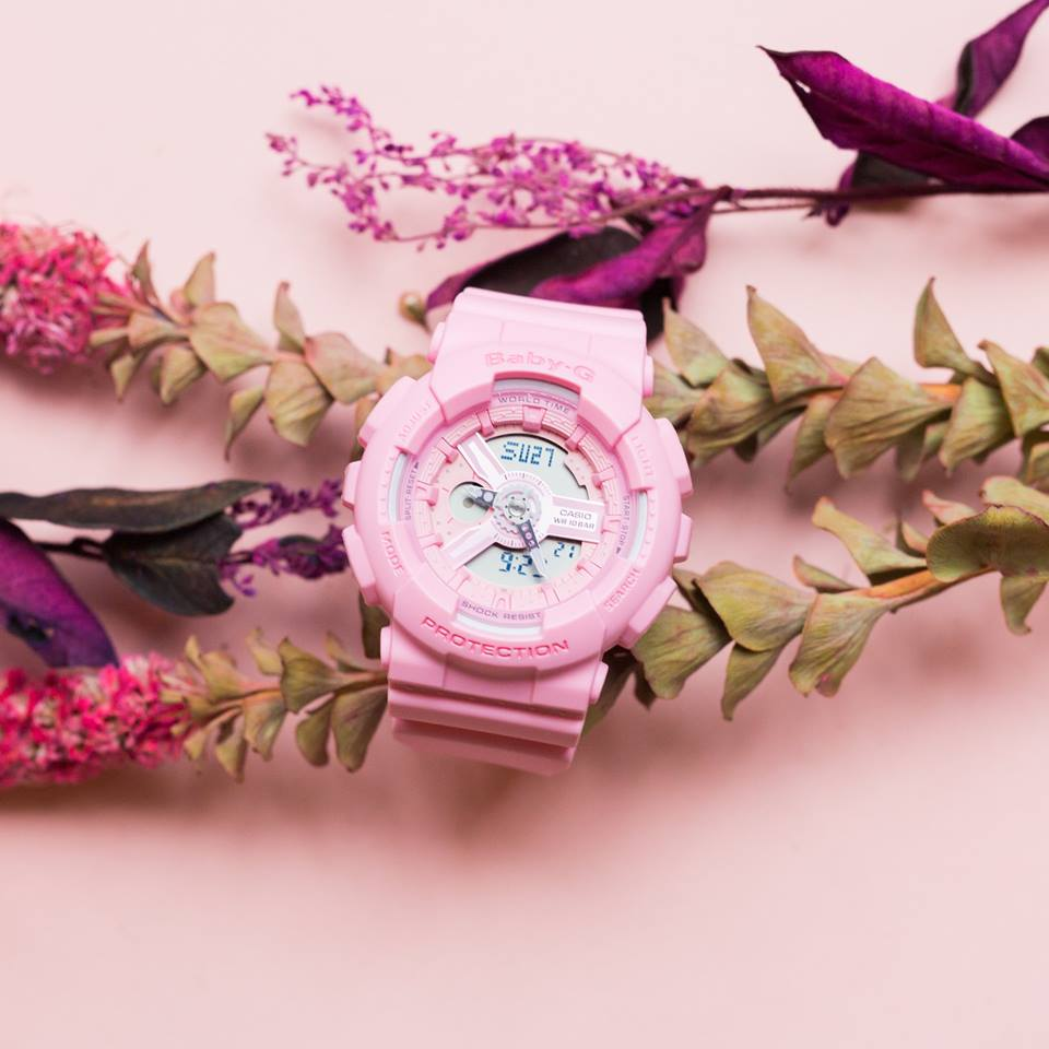 [Live Photos] Baby-G BA-110-4A2 and BA-110-4A1 from Pink Bouquet Series
