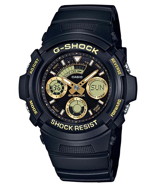[October 2017] G-Shock AW-591GBX-1A4 and AW-591GBX-1A9 Black and Gold