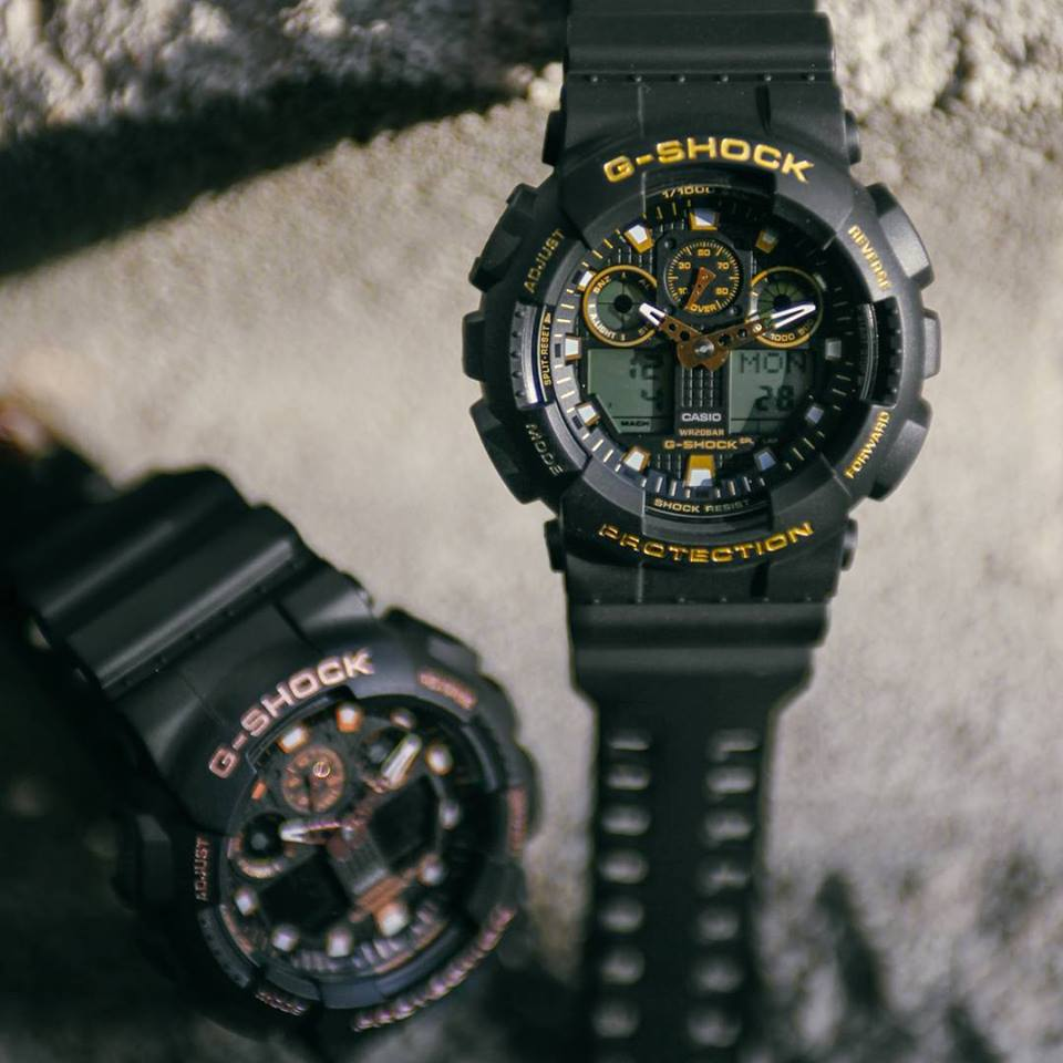 [Live Photos] G-Shock GA-100GBX — Rose Gold color addition