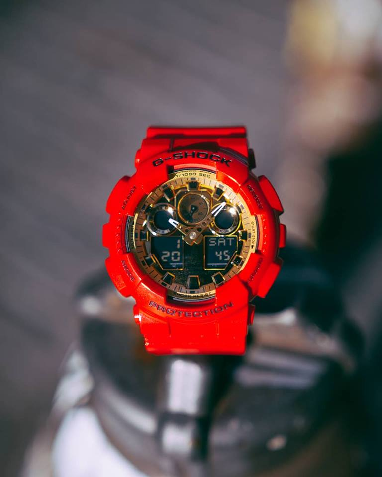 [Live Photos] G-Shock GA-100VLA-4A Chinese New Year