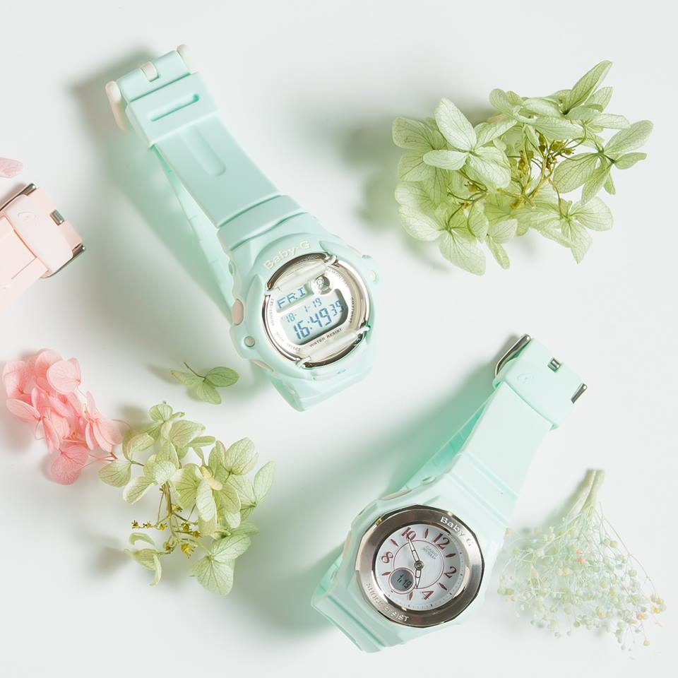 [Live Photos] Baby-G BG-169R-3 and BGA-1050BL-3B Blooming Pastel Colors