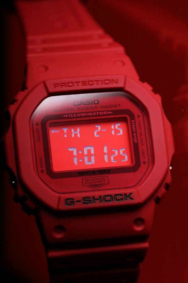 [Live Photos] G-Shock DW-5635C-4 — 35 Anniversary RED OUT Collection