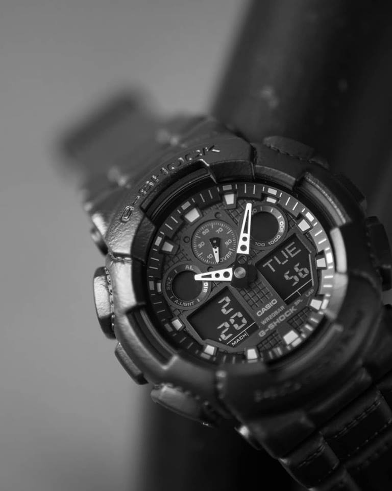 [Live Photos] G-Shock GA-100BT-1A — the touch and texture or leather