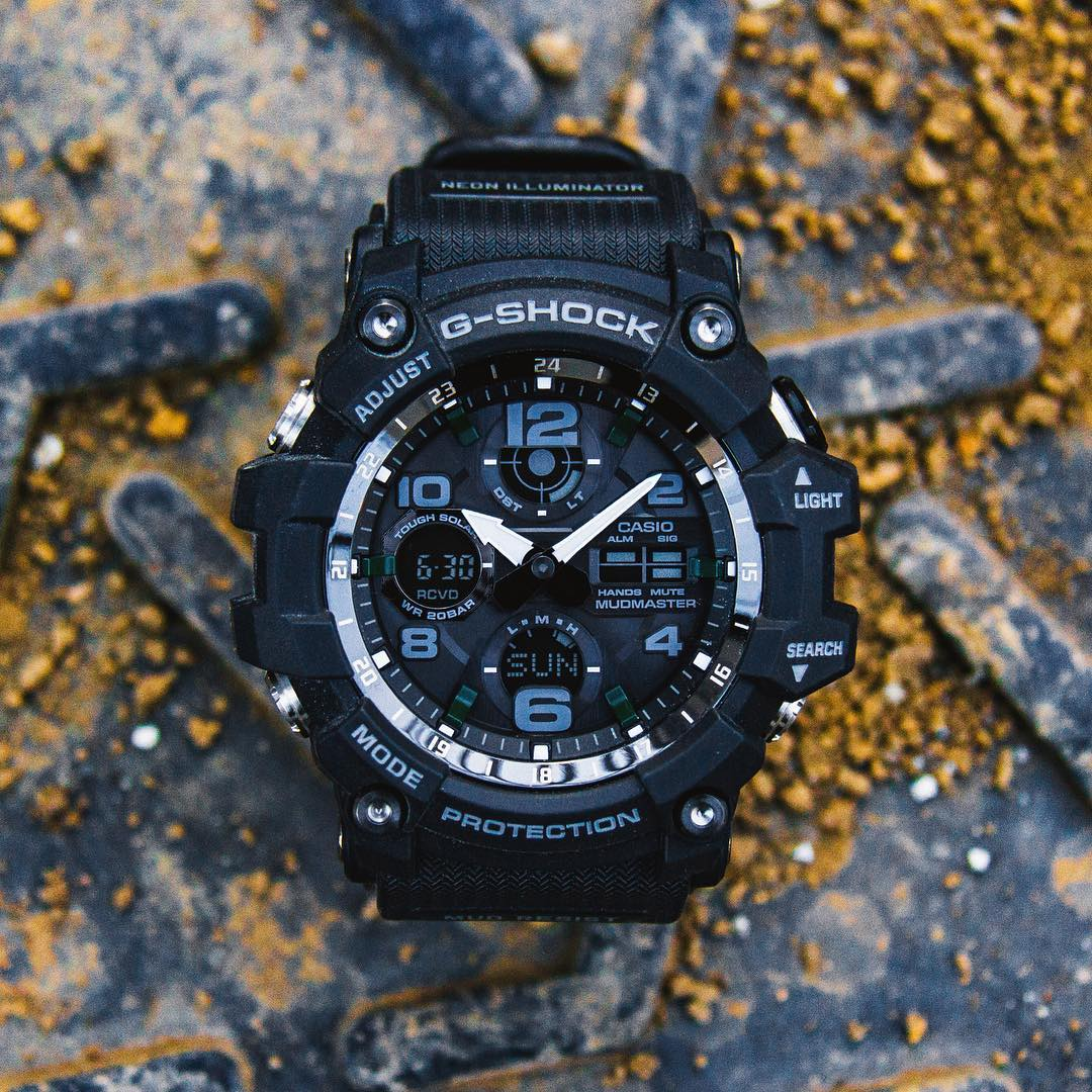 [Live Photos] G-Shock GWG-100-1A — Black Mudmaster
